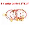 Lady Adjustable Sleeve Style Multi Rows Bags Decor String Bracelet Red