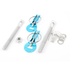 Racing Car Blue Clasps Hood Lock Pin Bonnet Kit for Steel Fiber Hood