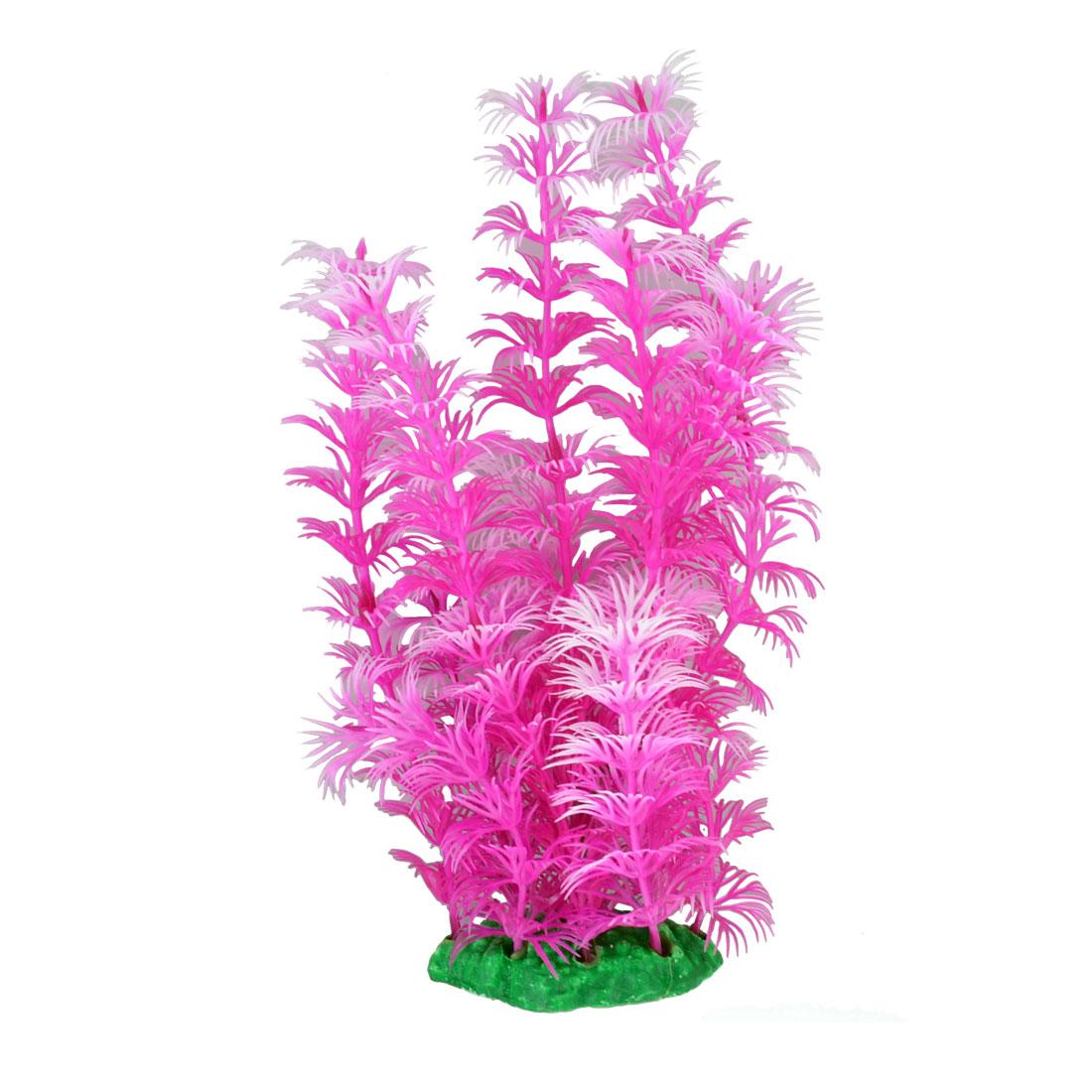 Fuchsia White Emulational Plastic Water Plants for Aquarium Fish Tank Ornament