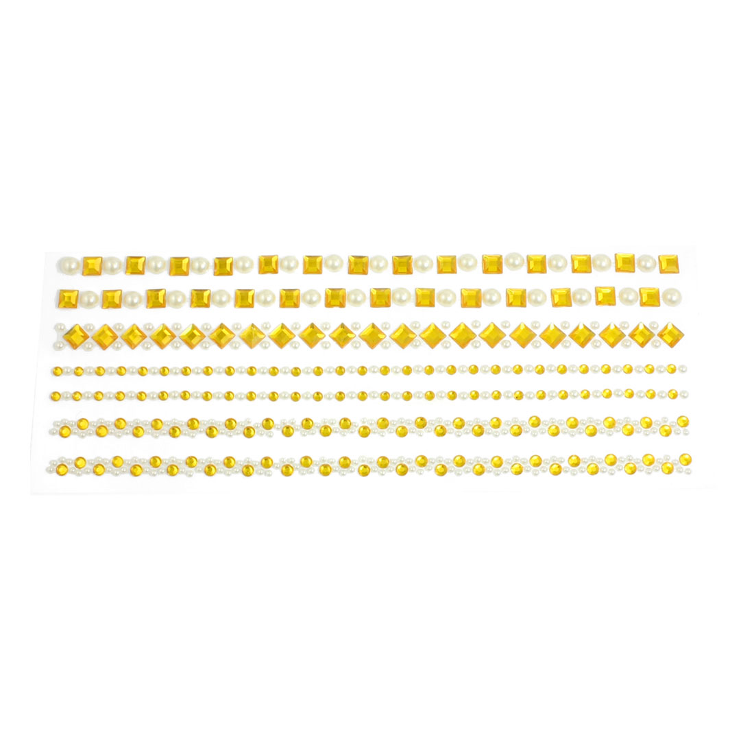 Gold Tone Plastic Adhesive Crystal Sheet Sticker DIY Decor for Auto Truck
