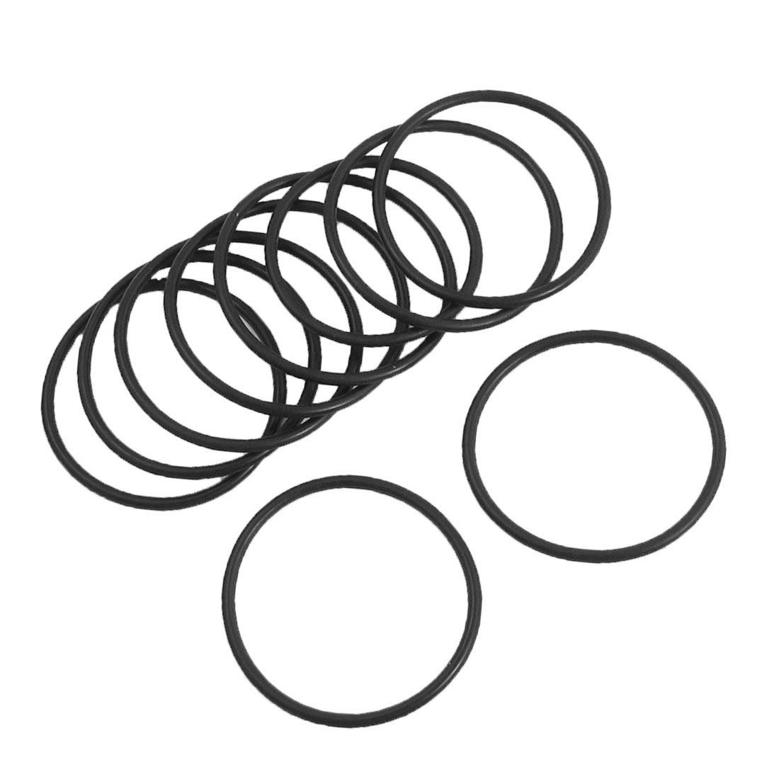 10PCS 45mm Outside Dia 2.5mm Thickness Rubber Oil Filter Seal Gasket O Rings