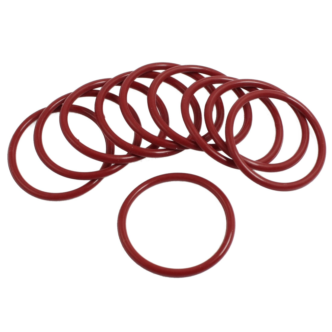10 Pcs 35mm Outside Dia 2.5mm Thick Industrial Rubber O Rings Seals