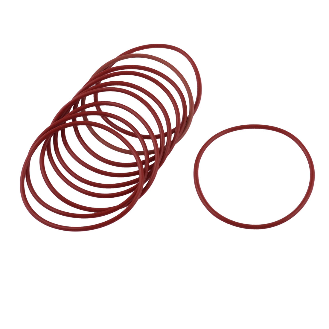 10X Red Rubber 55mm x 2mm x 51mm Oil Seal O Rings Gaskets Washers