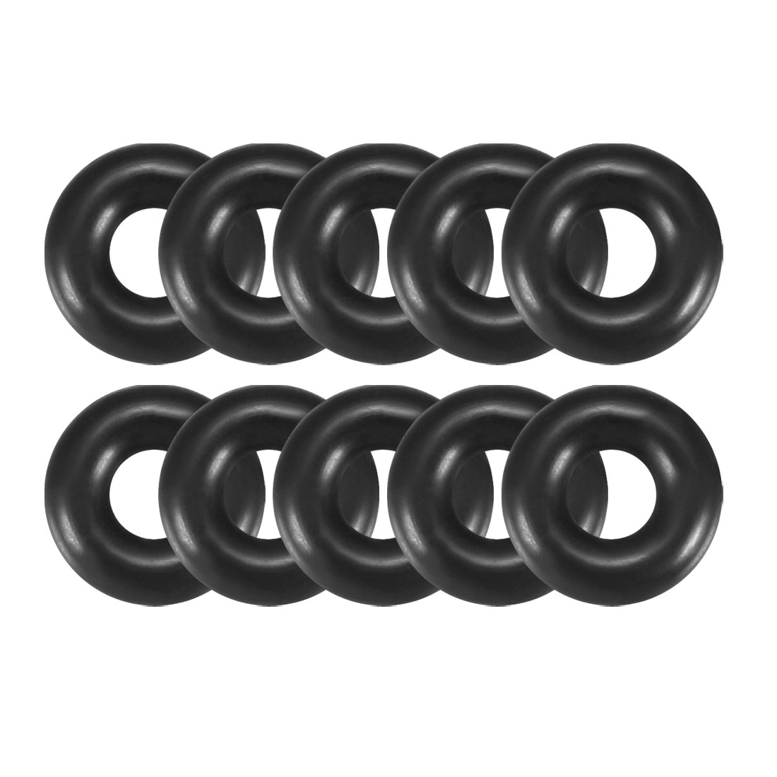 10 Pcs 10mm x 3mm Mechanical Rubber O Ring Oil Seal Gaskets