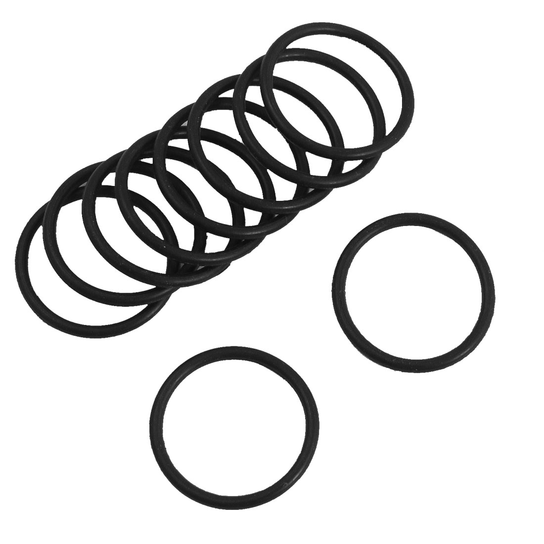 10PCS Black Rubber Oil Filter Seal O Rings Gaskets 11mm x 7mm x 2mm