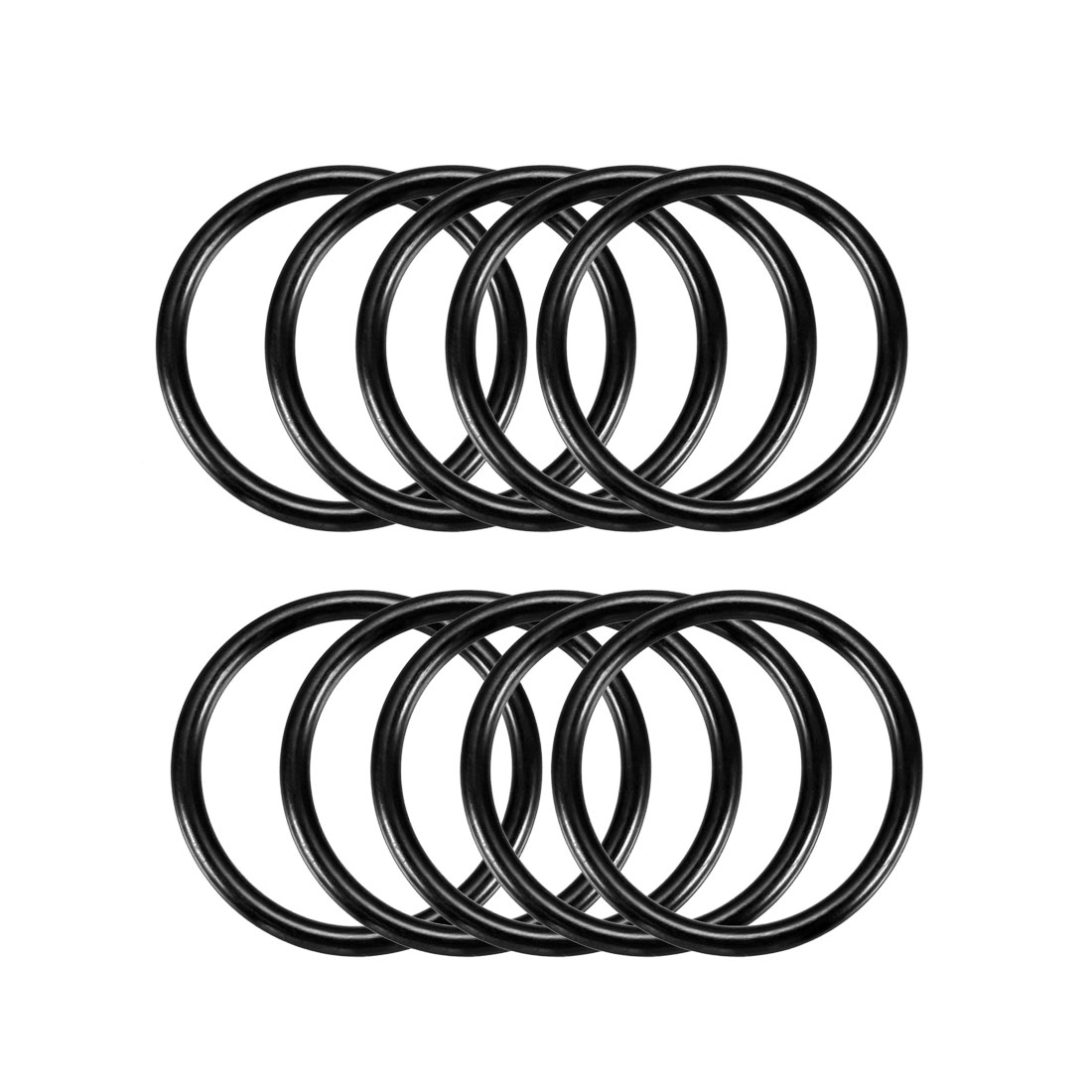 10 Pcs 30mm x 2.5mm Mechanical Rubber O Ring Oil Seal Gaskets