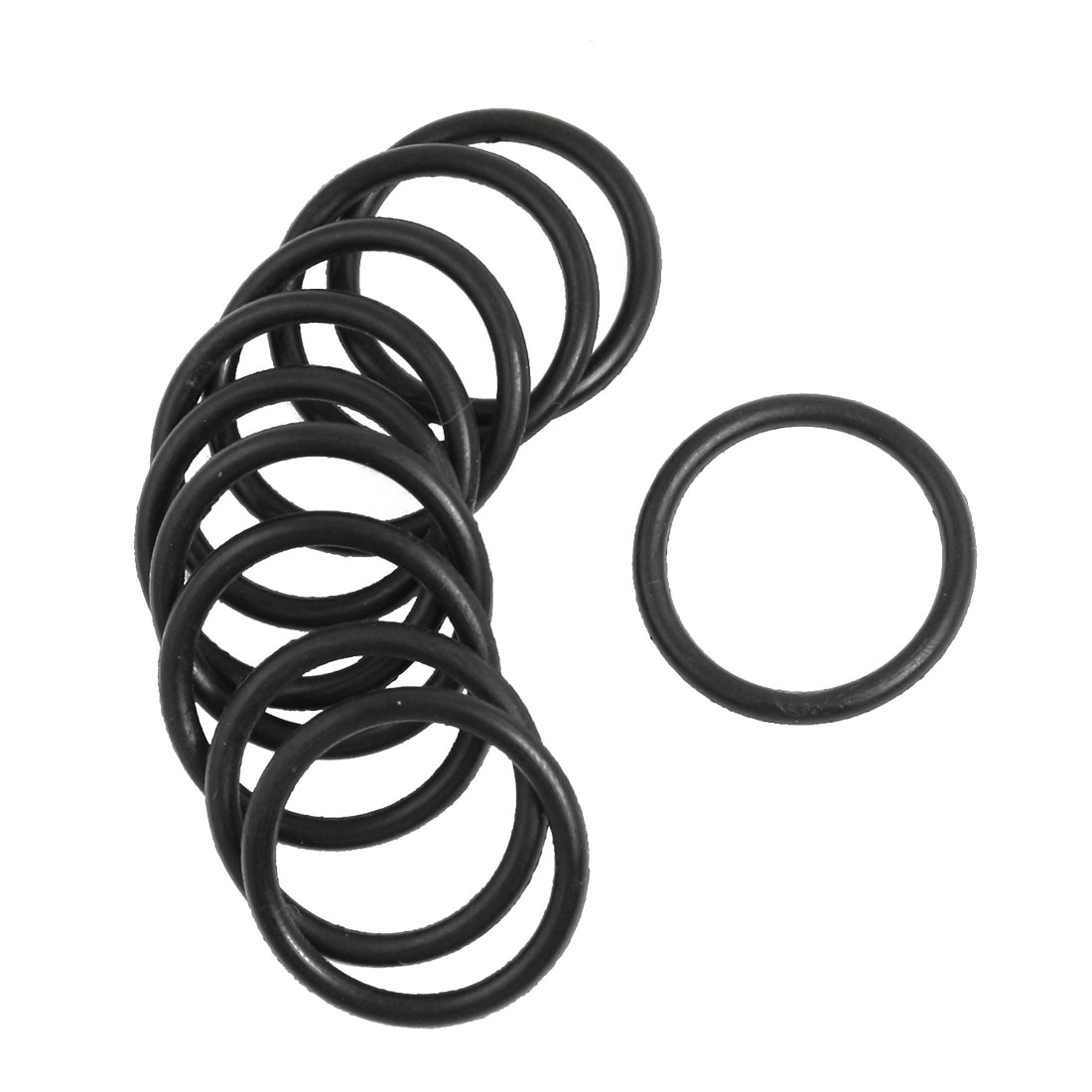 10 Pcs 24mm x 2.5mm Mechanical Rubber O Ring Oil Seal Gaskets