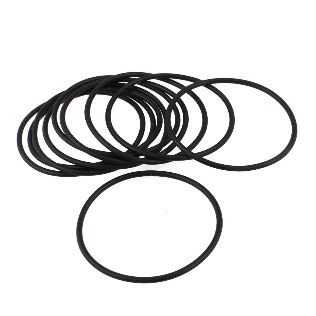 10 Pcs Oil Seal O Rings Black Nitrile Rubber 48mm OD 2mm Thickness