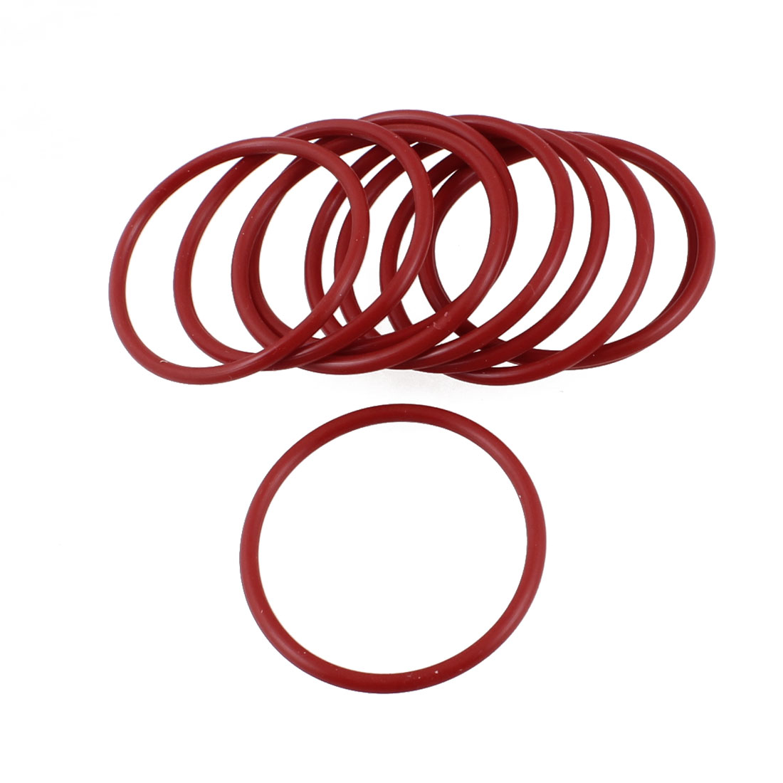 10 Pcs 40mm x 2.5mm Mechanical Rubber O Ring Oil Seals Gaskets Red