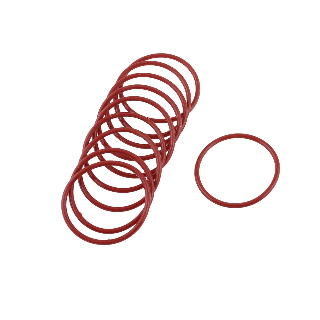 10pcs 35mm Outside Dia 2mm Thickness Rubber Oil Filter Seal Gasket O Rings Red