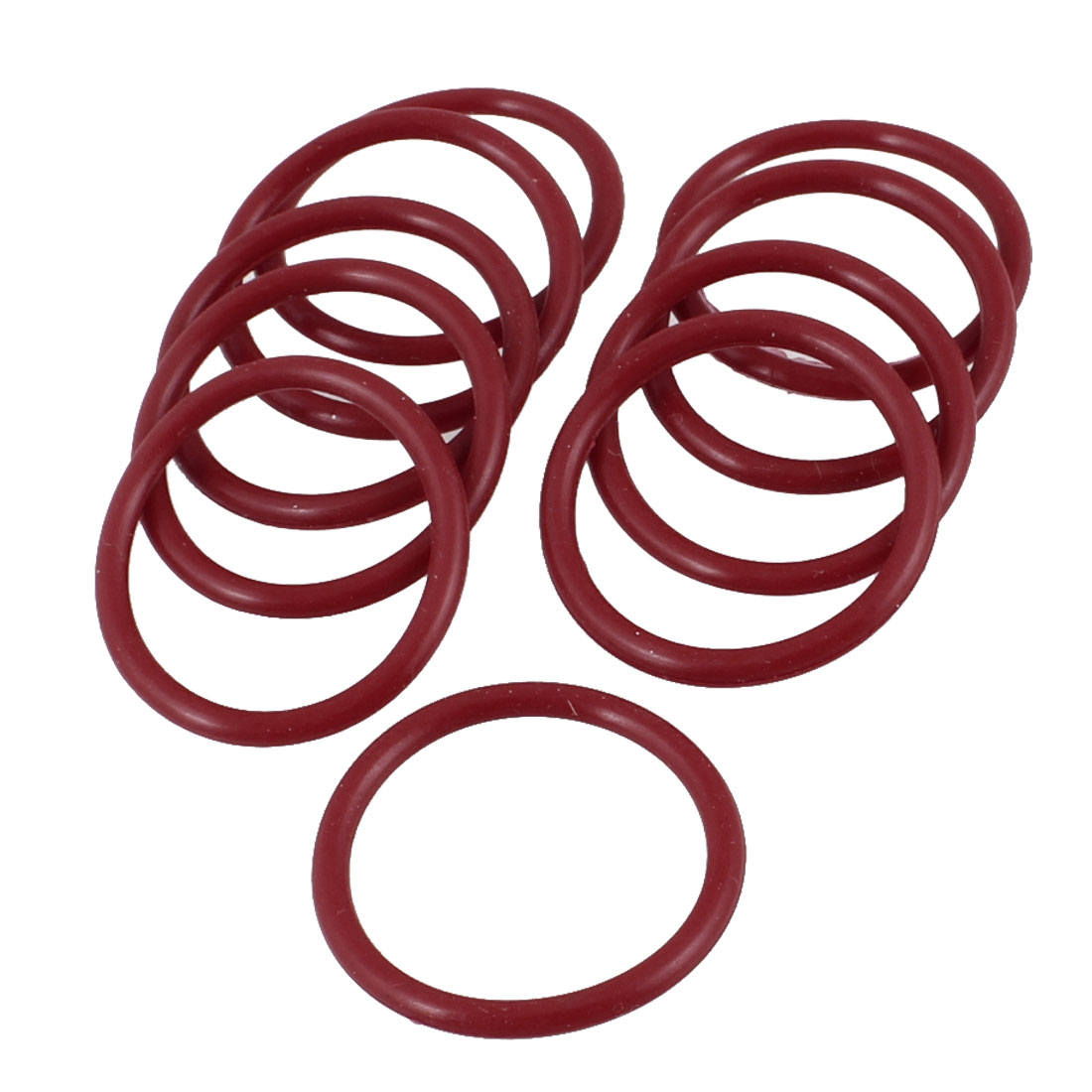 10 Pieces 24mm x 2mm Rubber O-ring Oil Seal Sealing Ring Gaskets Red