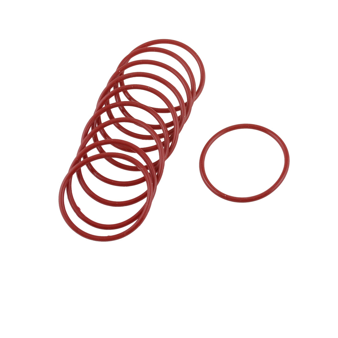 10pcs 40mm Outside Dia 2mm Thickness Rubber Oil Filter Seal Gasket O Rings Red