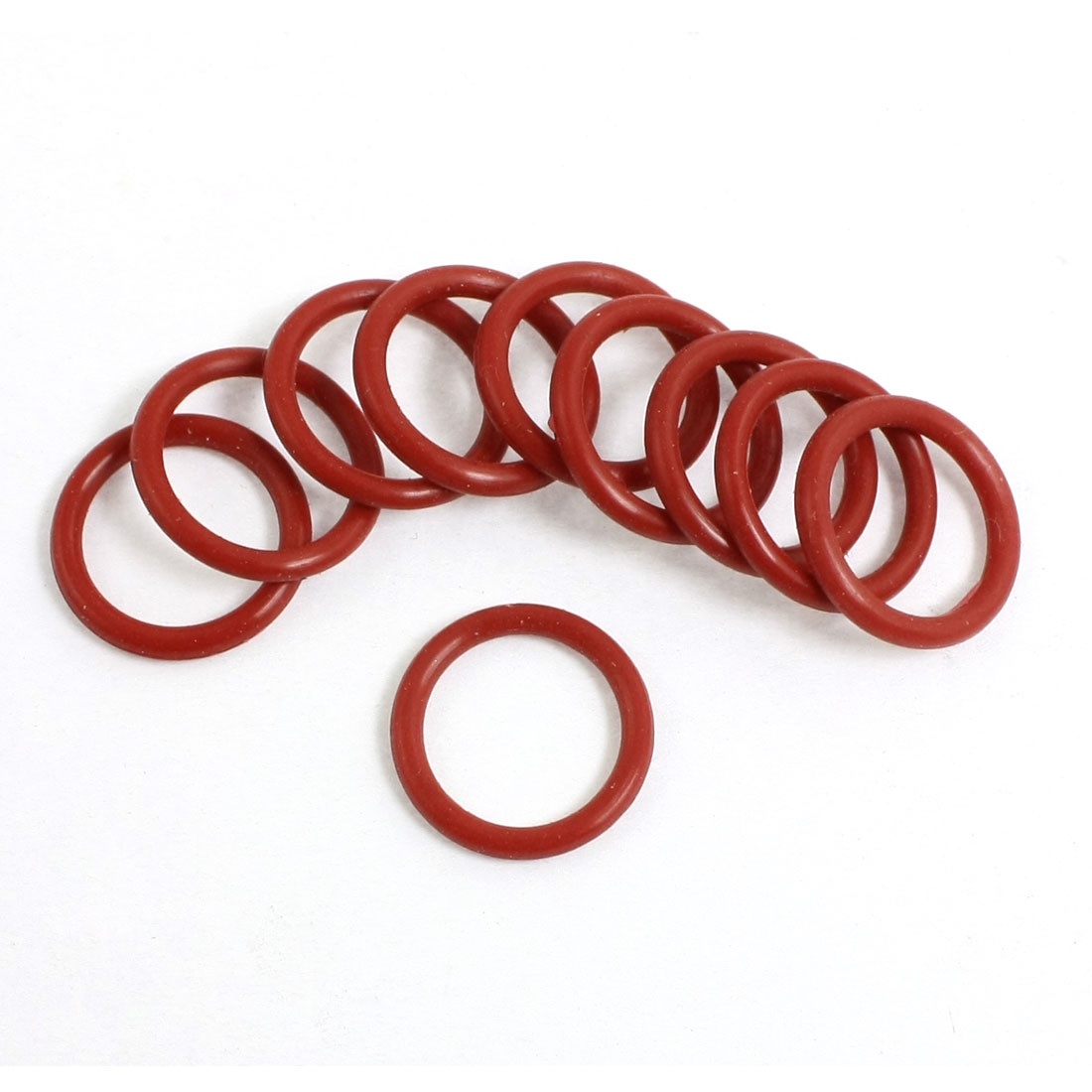 10 Pcs Flexible Rubber O Ring Seal Washer Replacement Red 16mmx2mm