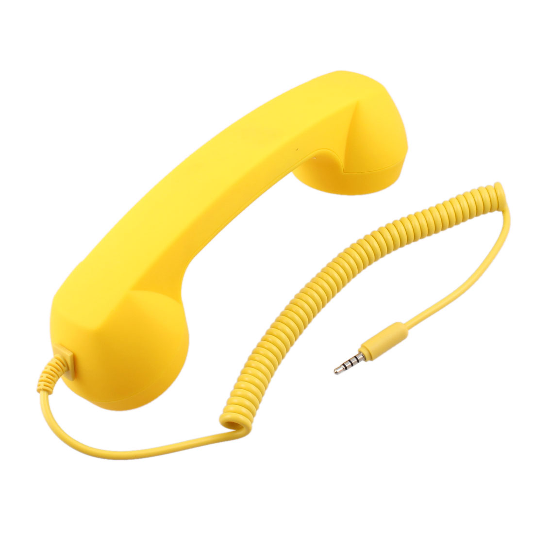 Yellow Retro Design Microphone Telephone Receiver for Phone