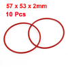 10PCS Soft Rubber O Rings Seal Washer Replacement Red 57mm x 53mm x 2mm