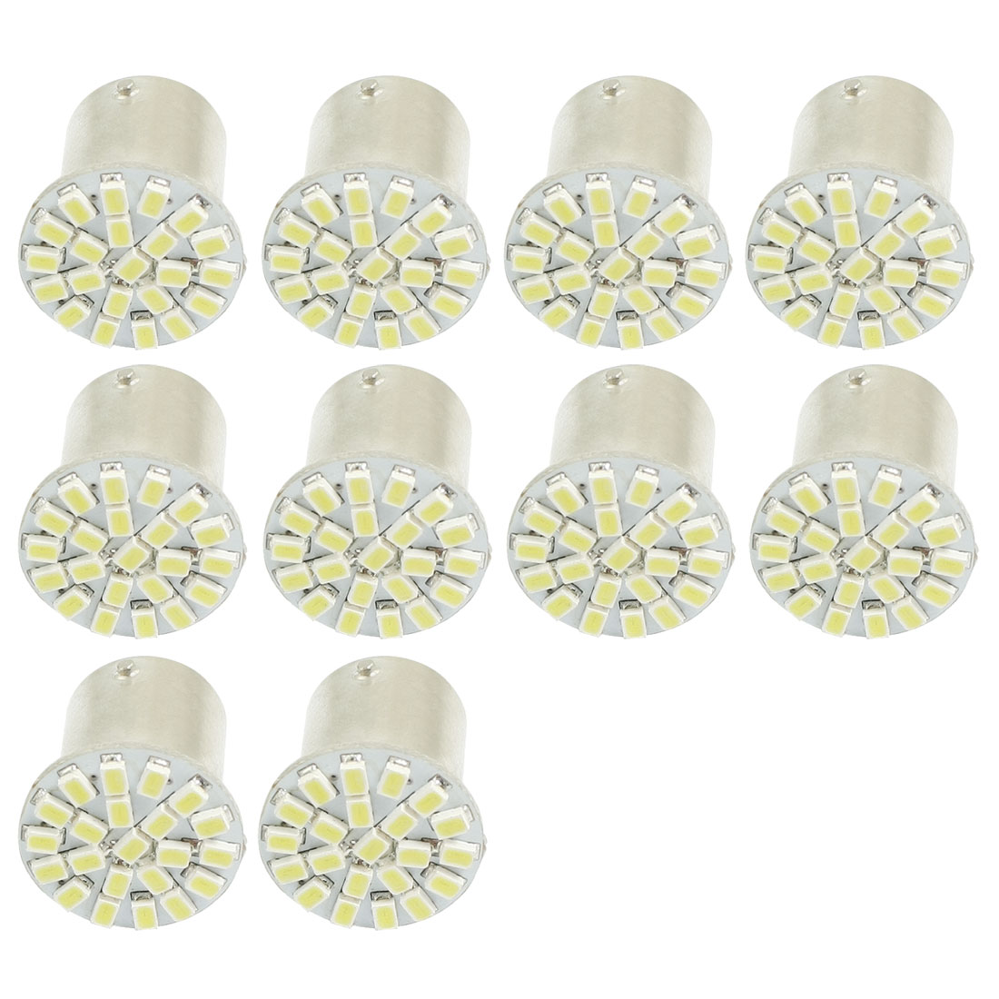 10 Pcs 1157 BAY15D White 22 1206 SMD LED Brake Light Lamp Bulb