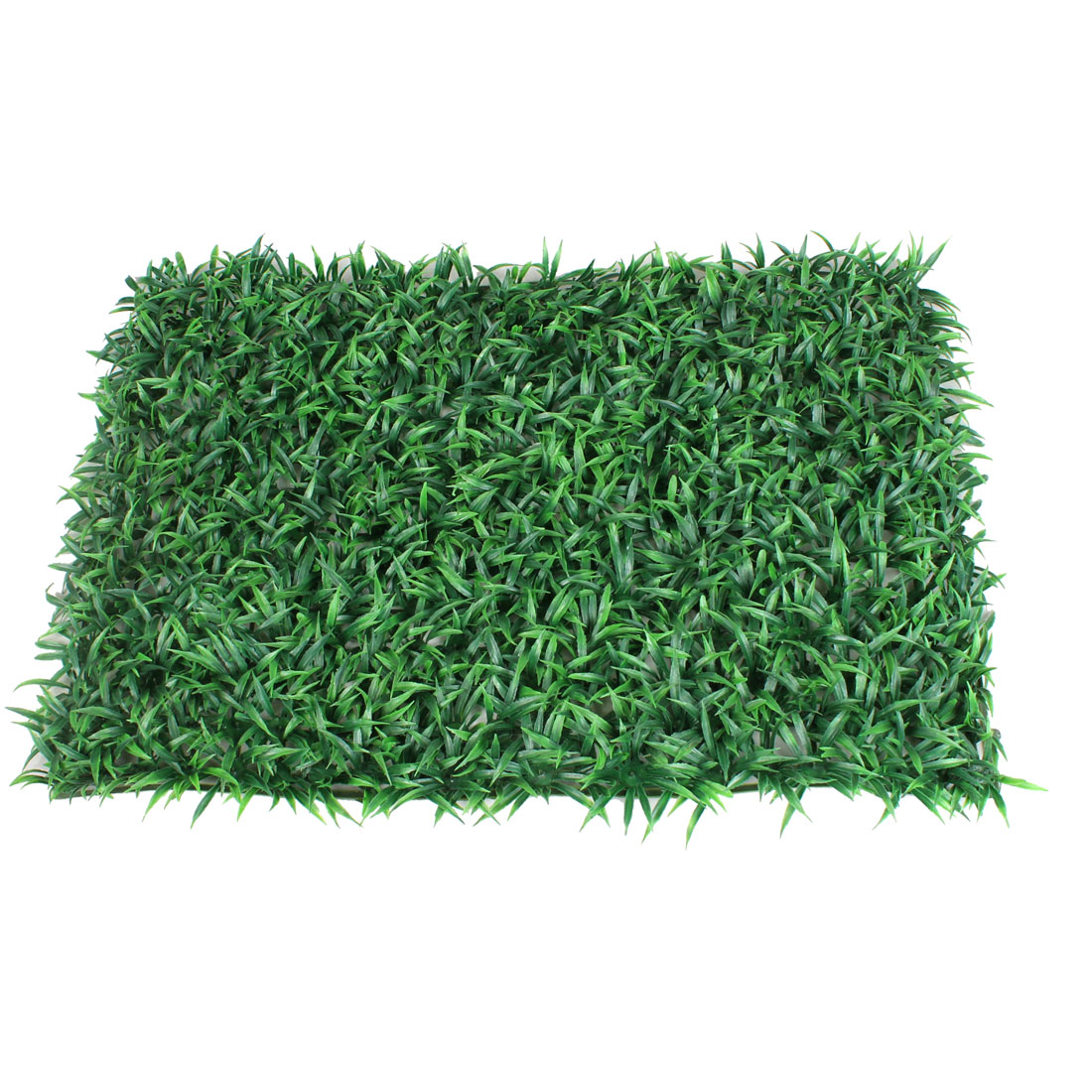 "Artificial Green Plastic Grass Lawn Aquarium Fish Tank Decor 24"" x 16"""