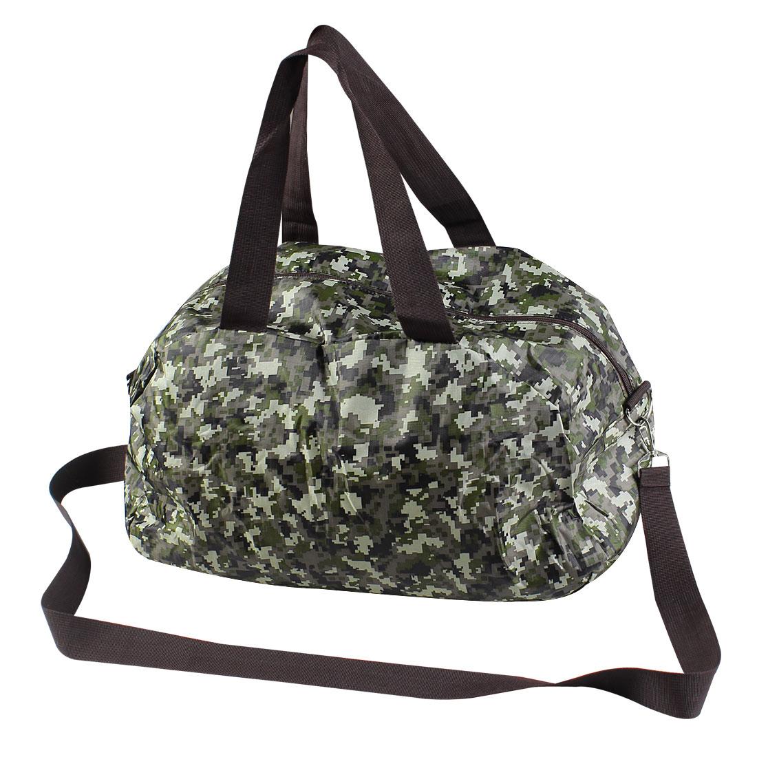 2 in 1 Camouflage Color Zipper Up Closure Handbag Purse for Men