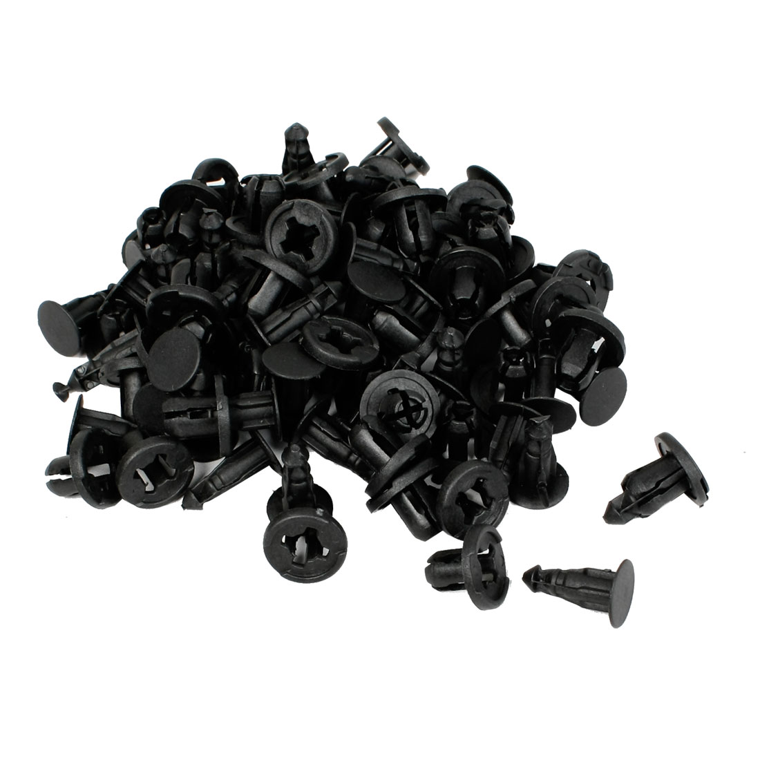50 Pcs Plastic Rivet Trim Panel Fastener Clips 10mm Hole for Car