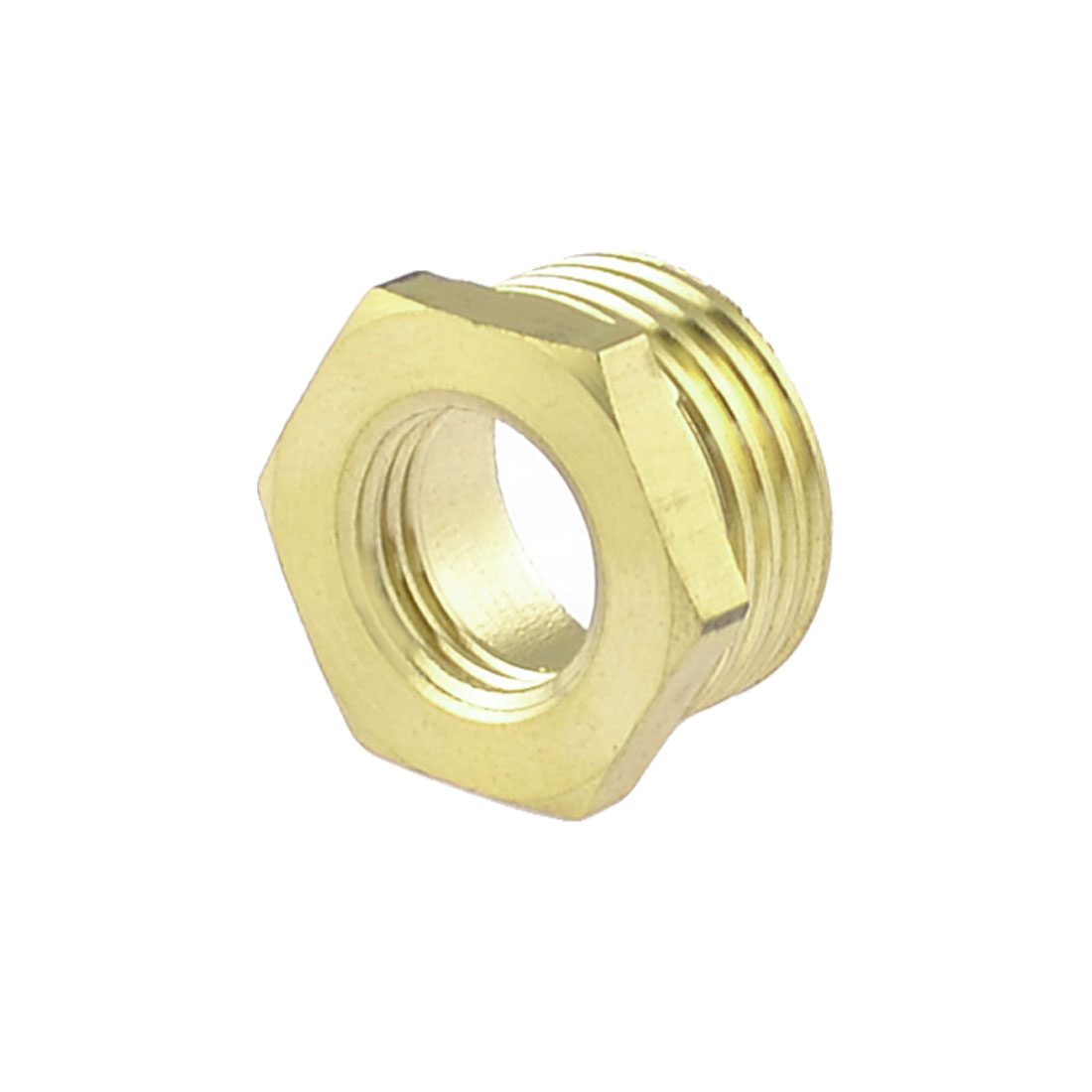 "Brass 1/2"" NPT Male to 1/4"" NPT Female Thread Hex Bushing Piping Quick Coupler"