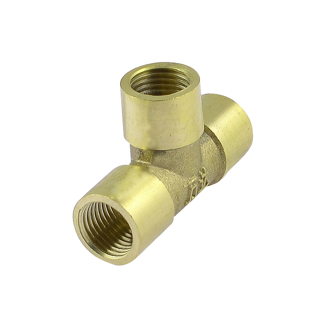 "Brass 1/4"" PT Female Thread 3 Ways T Shape Pneumatic Quick Connector Coupler"
