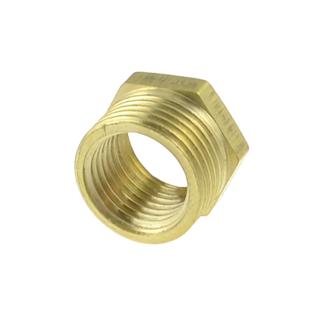 "Brass 3/8"" PT Male to 1/4"" PT Female Thread Hex Bushing Pneumatic Quick Coupler"
