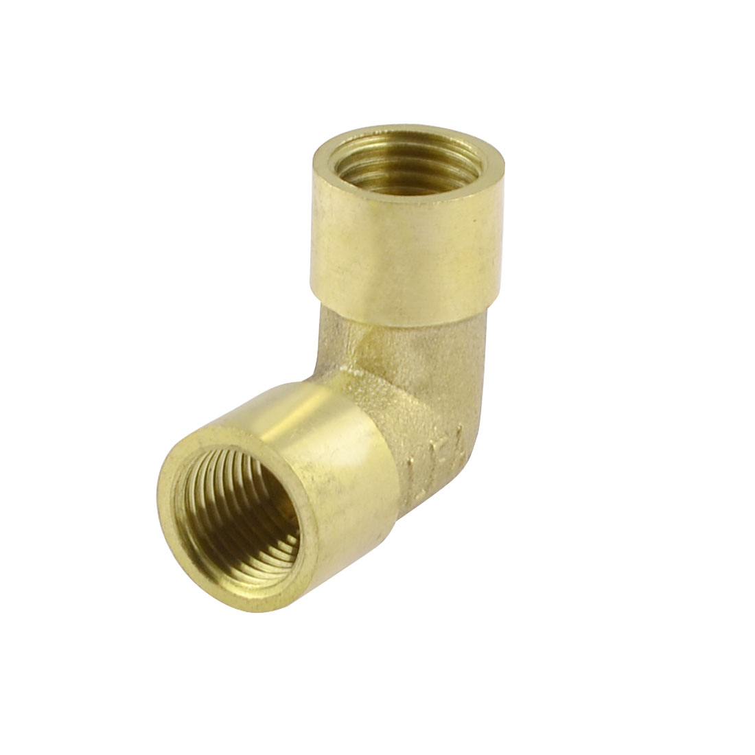 Brass 1/4BSP Female Thread Right Angle Pneumatic Piping Elbow Quick Connector