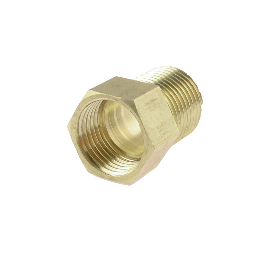 "Brass 1/2"" PT Male to Female Thread Hex Bushing Pneumatic Piping Quick Coupler"