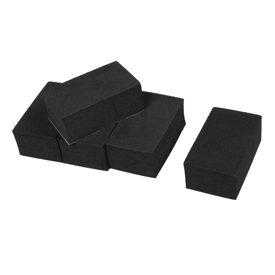 5 Pcs Foam Adhesive Car Truck Door Edge Guard Bumper Protector Decor Black