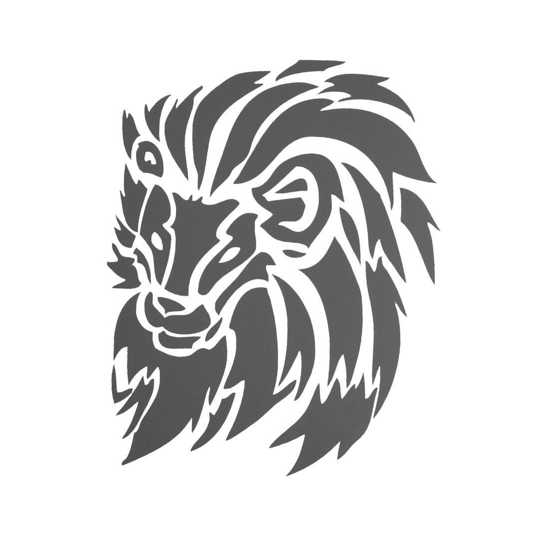Black Wall Window Car Auto Decorative Lion Pattern Decal Sticker