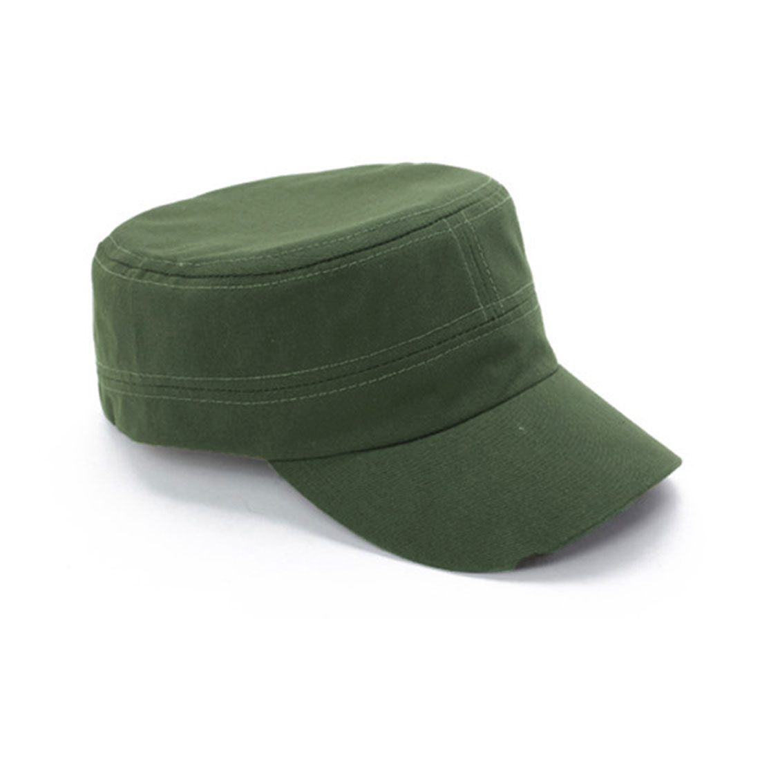 Unisex Solid Visor Leisure Fashional Design Peaked Cap Army Green