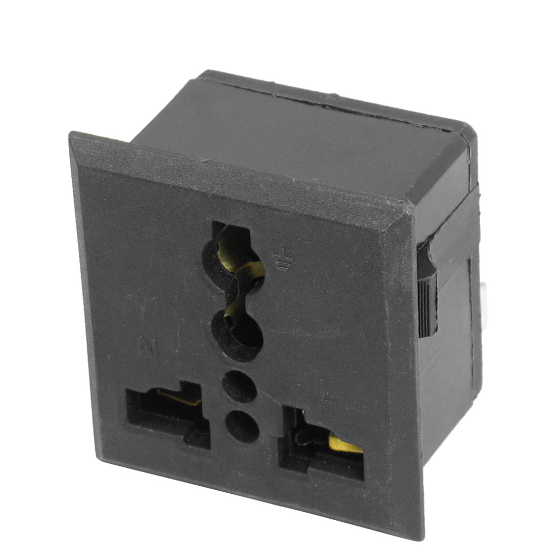 AC 250V 13A Universal US UK EU AU Panel Power Socket Outlet Black