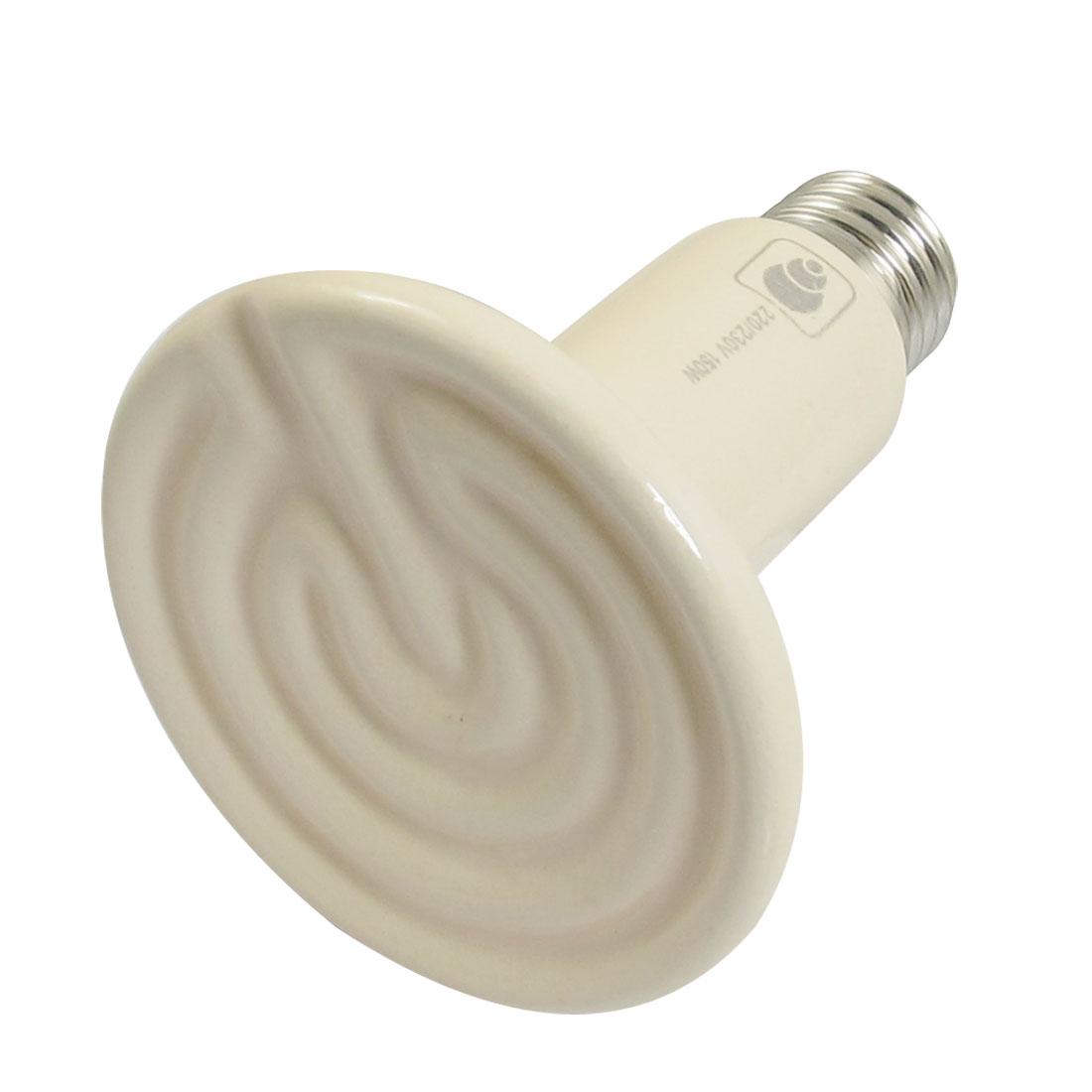 AC 220-230V 150W Ceramic Emitter Heater Pet Reptile Heat Lamp Bulb Beige