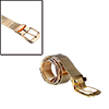 Men Gold Tone Stainless Steel Five Eyelets Detail Adjustable Waist Belt