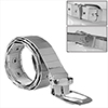 Men Silver Tone Adjustable Waist Stainless Steel Pin Buckle Belt