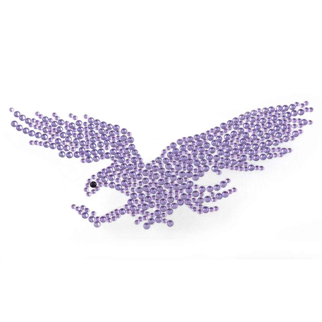 Plastic Rhinestones Eagle Decal Stickers Light Purple for Car Automobile Vehicles