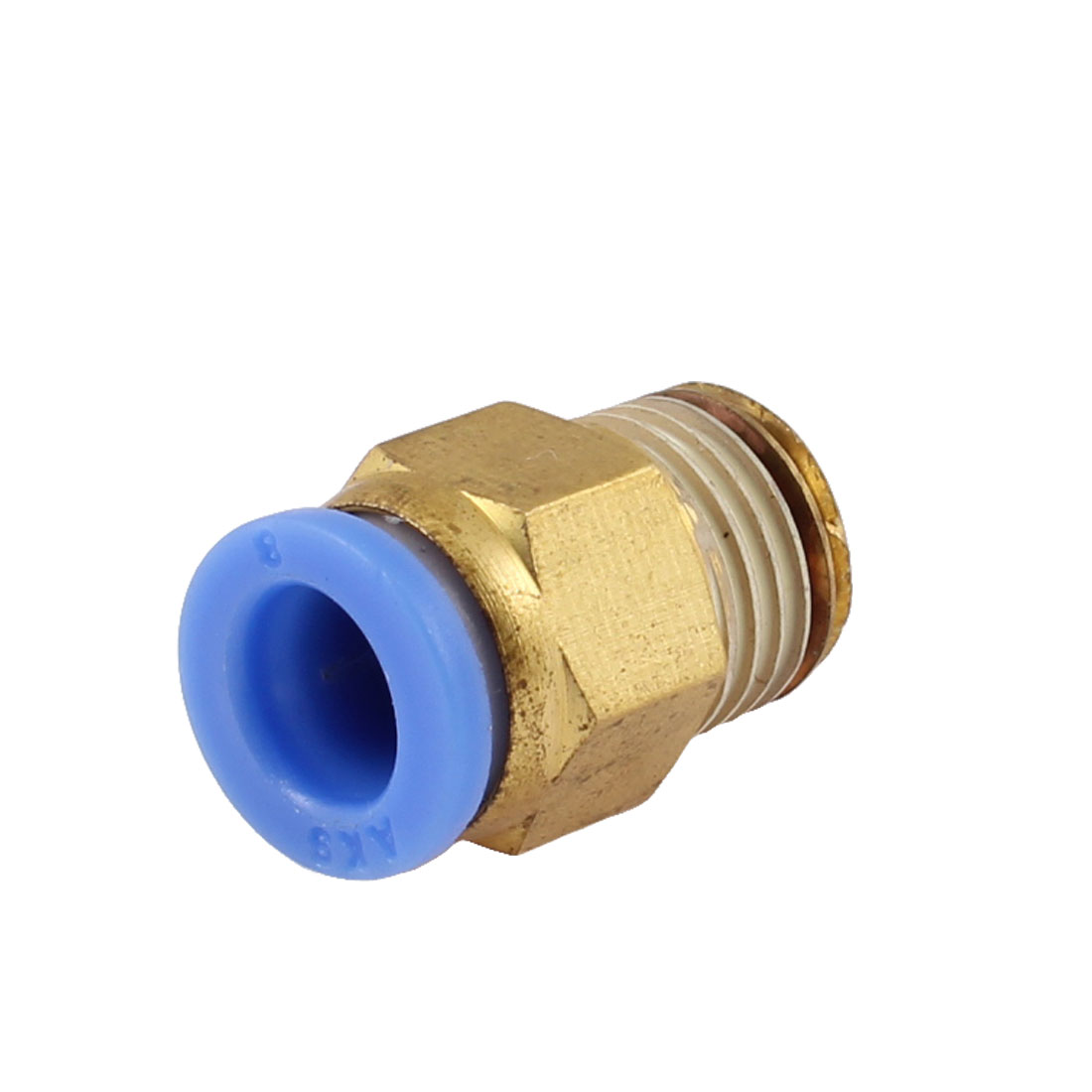 "8mm Tube Pneumatic Straight Quick Coupling 1/4"" PT Thread Brass Fittings"