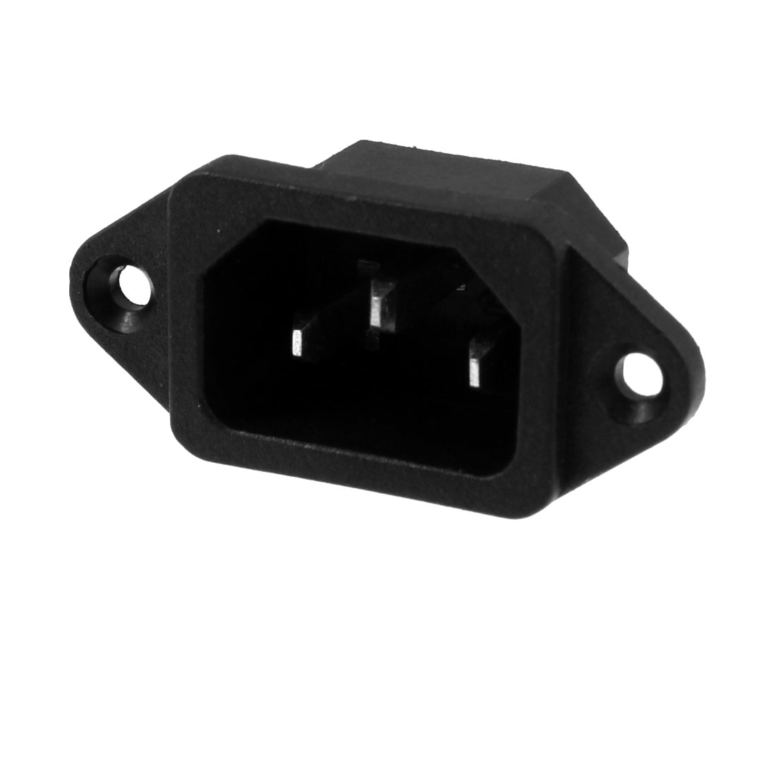 Male 3 Terminals Panel Mount C14 Power Plug Adapter Connector 250V 10A 250V 15A