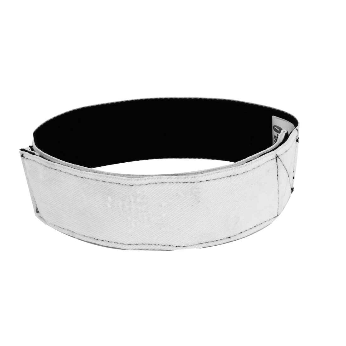 Loop Hook Closure 3 Legged Race Tie Elastic Band Strap Black White