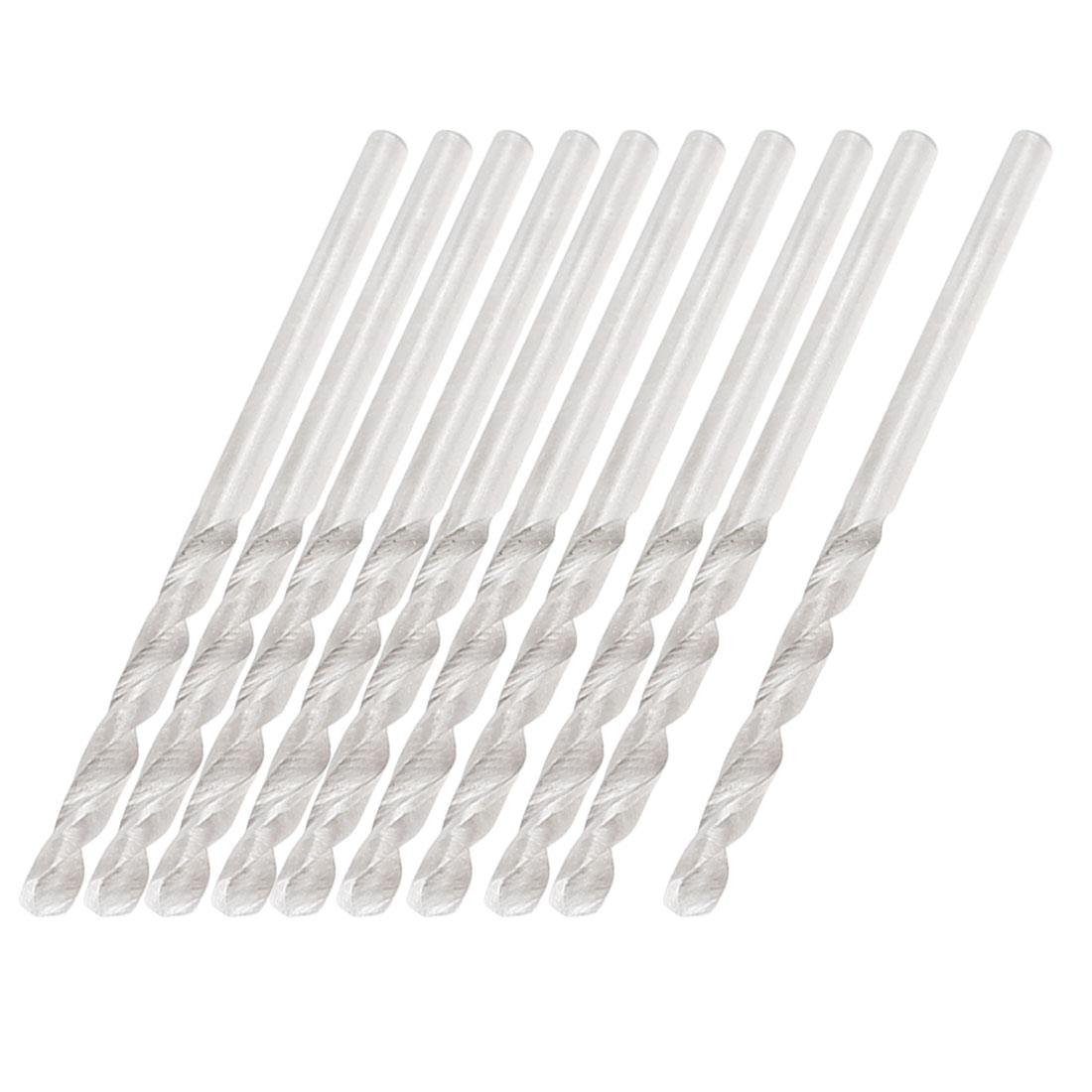 Straight Shank 2.3mm Diameter HSS Twist Drill Drilling Hole Bits 10 Pcs
