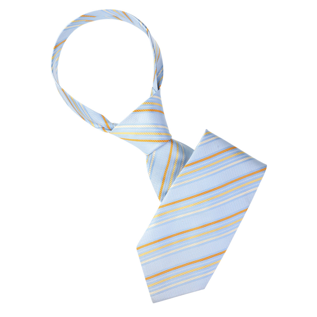 Yellow Blue Beige Diagonal Stripes Pattern Neckwear Necktie for Man Men