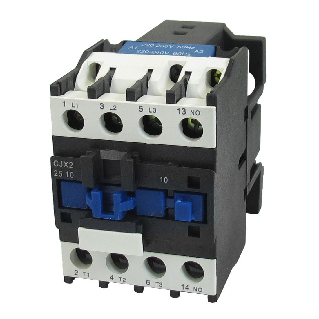 CJX2-2510 220-240V 50/60Hz 3Poles 1NO Overload Protection AC Contactor