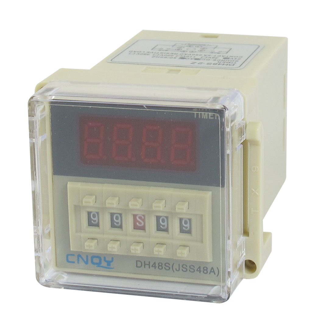 AC/DC24V DPDT 8P 0.01S-99H99M 4-Digit Programmable Timer Delay Relay DH48S-2Z