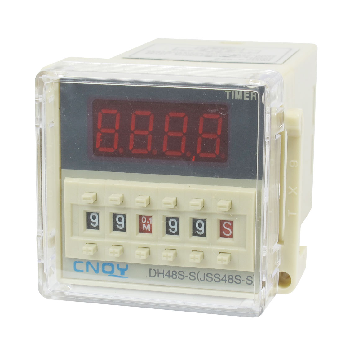 DH48S-S2Z LCD Display Time Timer Delay Relay 8-Pin DPDT 0.1S-99H AC/DC36V