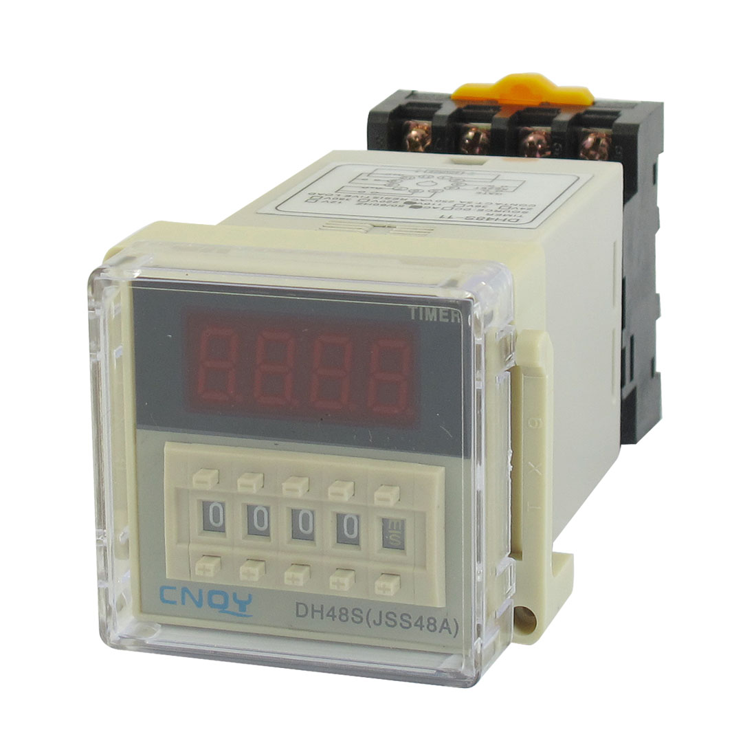 DH48S-11 Power on Time Delay Relay 11-Pin DPDT 0.01S-99H99M AC 110V w Socket