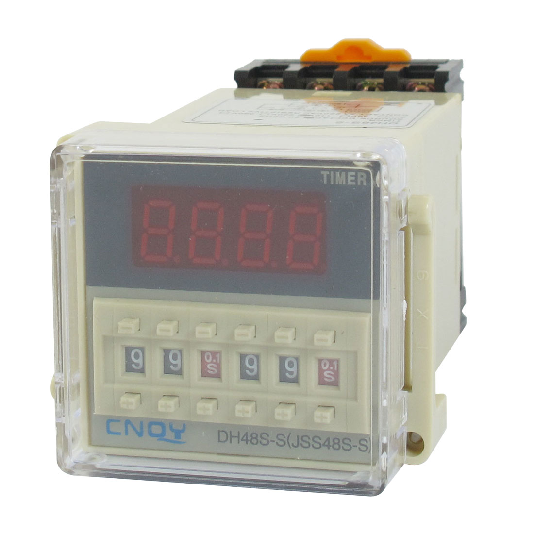 DH48S-S LCD Display Digital Time Timing Delay Relay 0.1S-99H 110VAC w Base