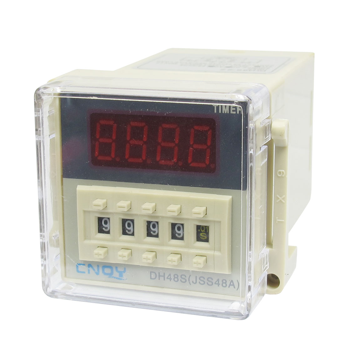 DH48S-2Z LCD Display Time Timer Delay Relay 8-Pin DPDT 0.01S-9999H AC/DC24V