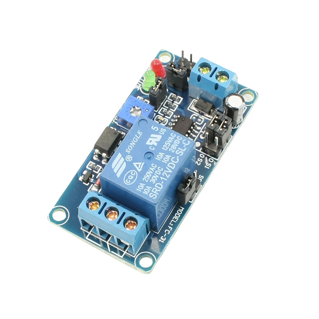 DC 12V SRD-12VDC-SL-C Circulate Time Delay Relay Module Board