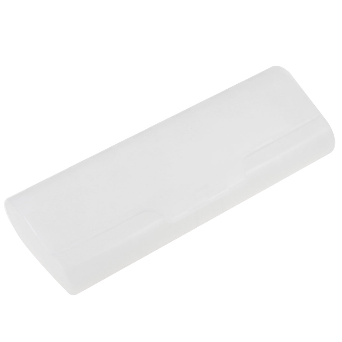 White Hard Plastic Checked Pattern Eyeglasses Case Holder