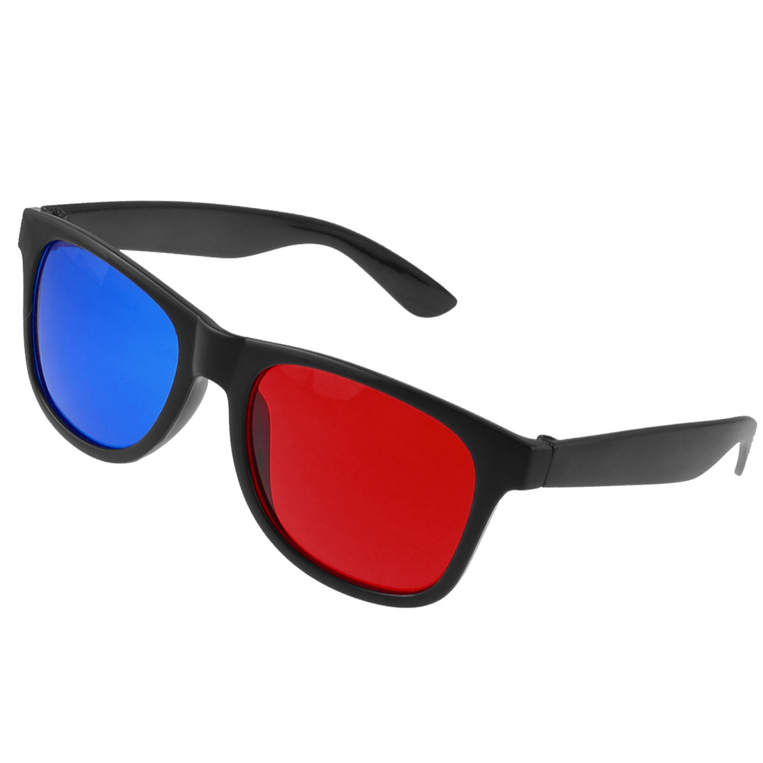 Anaglyph Moive Games Red Cyan Lens Black Frame 3D-Glasses
